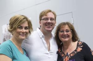 Tre hattar. Från vänster: Kristina Svensson, Lennart Guldbrandsson, Kim M. Kimselius